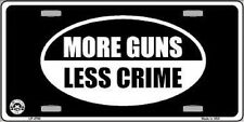 More Guns Less Crime Metal Novelty License Plate Tag