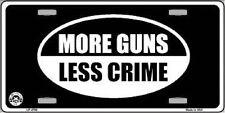 More Guns Less Crime Metal Novelty License Plate Tag