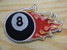 ECUSSON PATCH THERMOCOLLANT EIGHT BALL psychobilly rockabilly pin up choppers v8