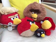 "4x Angry Birds Soft Toys Largest 8""  Star Wars, traditional and a hat VGC gLL"