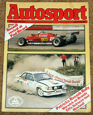 Autosport 29/7/82* FRENCH GP - Grp 1 SCIROCCO TRACK TEST - TOLEMAN F1 POSTER