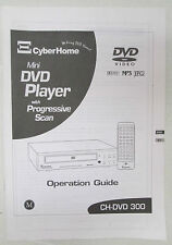 Vtg Cyberhome Mini DVD Player with Progressive Scan Operation Guide CH-DVD300