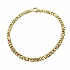 9ct Yellow Gold 3.5mm Classic Close Curb Bracelet Chain 2.8 Grams 7 Inch 18cm