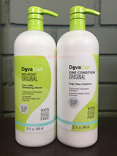 DevaCurl No Poo Original & One Condition Original 32oz Liter Duo Set