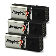 3-Pack of Blocklite 6 LED Mini Flashlights w/Energizer 9 Volt Batteries