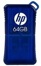 Hp 64gb V165w Usb Flash Drive Blue - 64 Gb - Blue - Ergonomic, Water Resistant,
