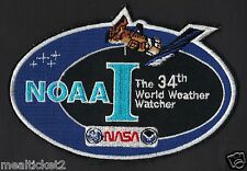 NOAA I  World Weather Watcher NASA JPL USAF Satellite MISSION SPACE PATCH