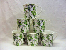 Set of 6 lilly of the valley china palace mugs