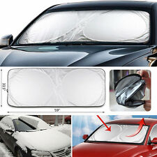 Jumbo Front Rear Car Window Sun Shade Folding Auto Visor Windshield Block Cover