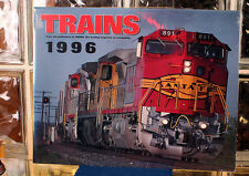 """Trains Magazine 1996 Calendar 13 3/4"""" x 10 3/4"""" NEW FROM OLD STOCK"""