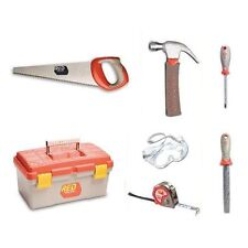 Red Toolbox Real Tools for Kids - Toolbox & 6 Piece Tool-Set