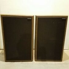 VINTAGE AMERICAN ACOUSTICS SPEAKERS NICE SHAPE WORKS!