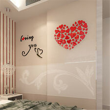 Love Heart DIY Removable Vinyl Decal Art Mural Wall Stickers Home Room Decor