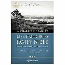 The Charles F. Stanley Life Principles Daily Bible by Thomas Nelson...