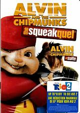USED  DVD // ALVIN & and THE CHIPMUNKS // THE SQUEAKQUEL //