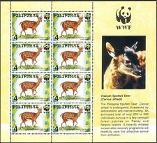 Philippines 1997 WWF/Deer/Animals/Nature/Wildlife/Conservation 8v sht (b7224)