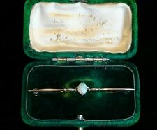 Solid 9ct Rose Gold Victorian Opal Bar Brooch
