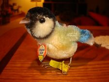 """1958 RARE Vintage Original STEIFF Bird with movable Wings 4 1/2""""  made of Mohair"""