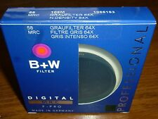 B+W F-Pro 58mm MRC 106M Solid Neutral Density 1.8 Filter (6Stop) Filter# 1066163