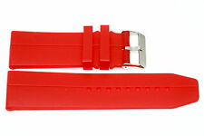 30MM RED SOFT RUBBER SILICONE DIVER SPORT WATCH BAND STRAP FITS INVICTA