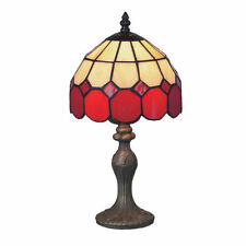 * prix de vente * Tiffany vitraux Lampe de table bistro rouge tbr1