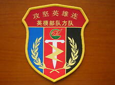 2015's China PLA Assault Fortified Positions Hero Troop Patch,Anti Japanese War