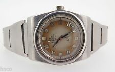 .VINTAGE ZENITH AUTOMATIC DEFY STEEL WATCH ON ORIGINAL BRACELET UNRESTORED