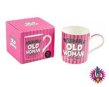 MISERABLE OLD WOMAN FINE CHINA COFFEE MUG CUP NEW IN GIFT BOX