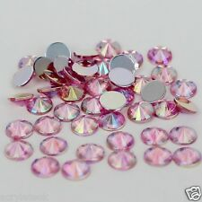 720x 5mm ss20 Light Pink AB Flat Back Pointed Rivoli Acrylic Rhinestones C08
