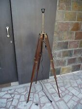 Timber Tripod Floor Lamp Stand Teak Wood Solid Lamp Stand Antique Home Decor