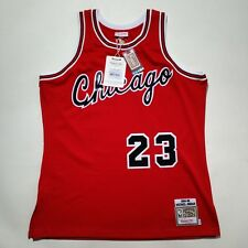 100% Authentic Michael Jordan Mitchell Ness Bulls Rookie 8485 Jersey Size 48 XL