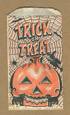 Lot of 3 Halloween Candy Bags - Witch, Jack O' Lantern, and Black Cat - 1960's