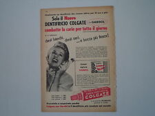 advertising Pubblicità 1956 DENTIFRICIO COLGATE