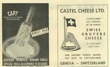 1953 Castel Cheese Geneva Capt Cutters Reamers Boring Tools Ad