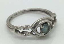 Sterling Silver Size 7 Ring Aquamarine