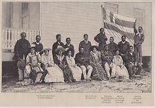 1888  --  OCEANIE  ILES SOUS LE VENT   FAMILLES REIGNANTES ET GOUVERNANT   3J336