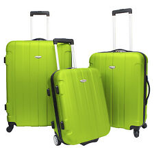 Traveler Choice Rome 3-Piece Green Hardside Spinner Rolling Luggage Set TSA Lock