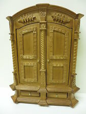 Dolls House Furniture Carved Walnut Cupboard   99519W   Top Quality