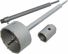 Professional 50mm & 110mm Core Bits & 350 mm SDS Extension Bar Power Tool