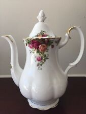 Royal Albert Old Country Roses Fine Bone China Gilt Coffee Pot Teapot 1962
