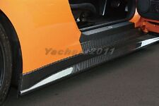Carbon ZELE Style Side Skirt Extension Fit For 08-14 Nissan R35 GTR GT-R CBA DBA