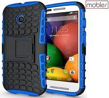 Mobier Hybrid Armor Kick Stand Case Cover For Motorola Moto E (1st Gen.) Blue