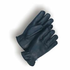 Genuine Leather-SOFT_SUPPLE Deerskin Unlined Driving-Casual-Gloves-Black-XL