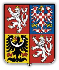 Czech Republic Coat Of Arms Car Bumper Sticker Decal 4'' x 5''