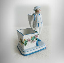 K P M porcelain figurine vase with flowers and man figure - FREE SHIPPING
