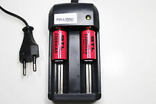CHARGEUR RS08 + 2 BATTERIE PILE 16340 CR123 2300mAh RECHARGEABLE 3.7V ION ACCU