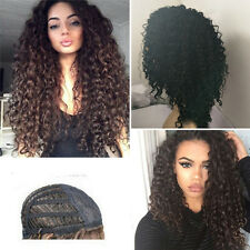 "22"" Female Women Long Afro Kinky Curly Synthetic Full Hair Wig for Black Women"