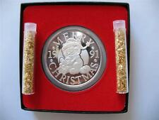 1-OZ.999 SILVER CHRISTMAS GARFIELD PAWS ENGRAVABLE1991 COIN  GIFT BOX+GOLD