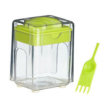 Plastic Potato Chipper Lime Green Clear Home Restaurant Hotel Kitchen Accessory