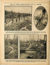 Bataille de la Somme Soldiers British Army Tommies Trench Tranchée 1917 WWI
